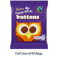 CADBURY DAIRY MILK BUTTONS CHOCOLATE MINI BAGS 14.4g FULL CASE OF 60 BAGS