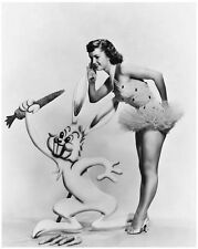 Debbie Reynolds promo still with animated rabbit - (c365)
