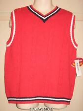 Boys Parisian Kids Sweater Vest Red Cotton Sz 6 NWT