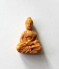 Hand Carved Chinese Jade Buddha Figure Large Pendant Amulet