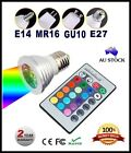 4 x RGB 3W LED Spotlight Downlight Ceiling Lamp Bulb IR Remote E14 GU10 E27 MR16