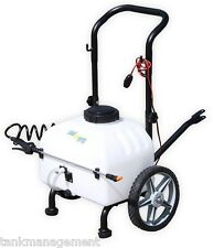 34L 12V ATV spot garden weed rechargeable trolley spray DELAVAN pump and boom