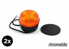 2 Piezas Mono estroboscópica Ámbar 4 LED Luces Naranja Avería FARO Camión Cable