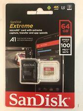 microsd sandisk PER GOPRO 5 GOPRO 6 GOPRO 7 DA 64 gb extreme 100 MB/S 4K HD