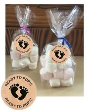 24 Personalised Ready To Pop Baby Shower DIY Cello Party Sweetie Favour Bags