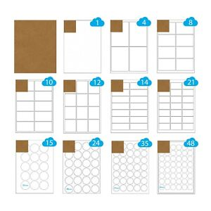 500 A4 Sheets Brown Ribbed Kraft Paper Labels Laser Inkjet Sticky Printer Labels