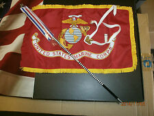 Cal tek USMC flag with pole and carry harness 1/6th scale toy accessory