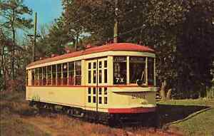 Vintage Train Post Card Branford Trolley Museum East Haven CT Connecticut
