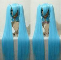 Vocaloid Miku Hatsune Lolita Long Ponytail Blue cosplay kostüm perücke