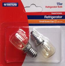 2x 15W Light Bulb 240V STATUS SES E14 Oven Fridge/Freezer Lamp Appliance NEW