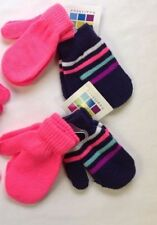 94bd28389ab31 Toddler Infant Baby Mittens Winter Gloves Hot Pink Navy Blue striped 12-24  mths