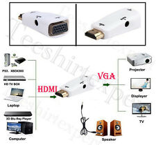 1080P HDMI macho a VGA hembra Adaptador Convertidor con USB / Audio Cable
