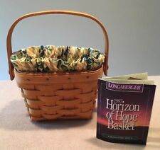Longaberger 1997 Horizon Of Hope Basket Combo Garden Trellis Excellent!