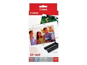 Canon Genuine KP-36IP  Ink Cartridge & Paper Pack 36 Sheets for Selphy CP-740