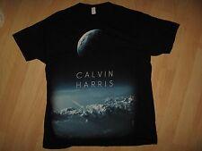 Calvin Harris Tee - 2012 Scottish Singer Concert Tour Black T Shirt Large