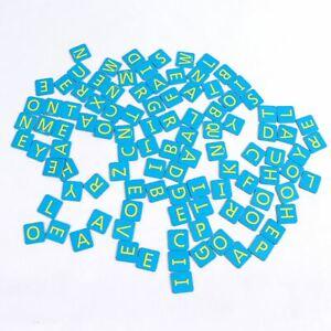 2014 SCRABBLE JUNIOR Game 103 Blue Letter Tiles Only Replacement Pieces Parts