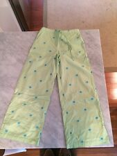Womens Green Palm Tree Drawstring Pants Size 2 Lounge Lilly Pulitzer