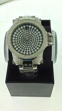 NEW Techno Master TM-2115 Black & White Diamond  Watch Men's 1/4 CTS