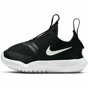 Nike Flex Runner (TD) Shoes Black/White AT4665 001 Toddler Size Free Shipping