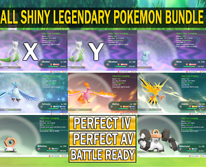 Pokemon Let's Go All Shiny Legendary Pokemon | [Fast Delivery]