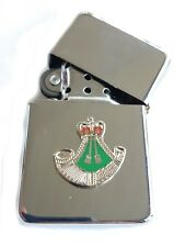 The Rifles Regiment Chrome Plated Windproof Petrol Lighter in Gift Box