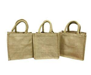 Jute Hessian Handmade Small Sandwich Bag Gift Bag wholesale 1 3 5 10 lot