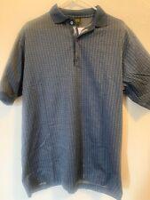 Bobby Jones Large Men's Short Sleeve Golf Polo Navy Blue Made In Italy