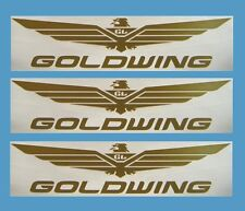 "Wing Decals For Honda Goldwing Motorcycle Rider Set of 3 12"" GW-12"