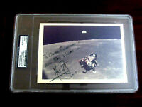 NEIL ARMSTRONG BEST WISHES APOLLO 11 FIRST ON MOON SIGNED AUTO LM-5 PHOTO PSADNA