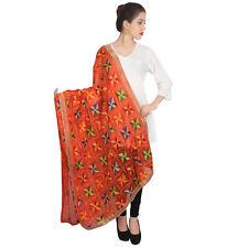Wrap Wedding Dress Fashion Suit Beautiful Dupatta Orange Long Scarf Shawl