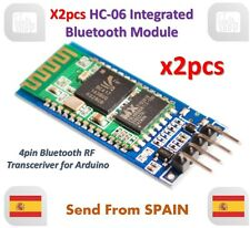 x2pcs HC-06 Bluetooth Serial Transceiver Module Slave Master RS232 HC06 Arduino
