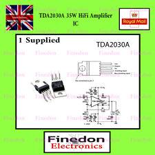 ST TDA 2030a 18 Watt Power Op-amp / 35w Driver Amp UK Postage