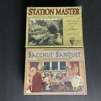 Mayfair Games Lot Of 2: Station Master and Bacchus Banquet - Makers Of Catan NEW