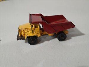 Corgi Juniors 1:64 Euclid 35 Ton Rear Dump Truck Red Yellow Made in Britain