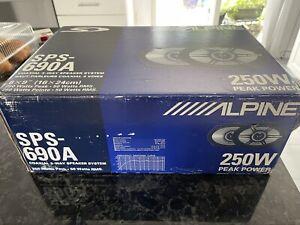 NIB pair of Alpine SPS-690A coaxial 3 way speaker system 250 W peak power