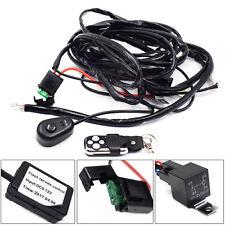 New Sale 12V Car Remote Control Flash Strobe 2Lead LED Light Wiring Harness Kit