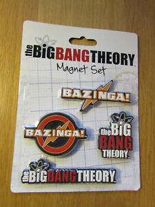 The Big Bang Theory Magnet Set - New / Sealed - FREEPOST