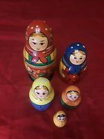 """Russian Nesting Dolls 6"""" Tall Circa 1950"""