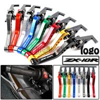 CNC Short Aluminum Adjustable Brake Clutch Levers Kawasaki ZX10R / RR/KRT 16-17