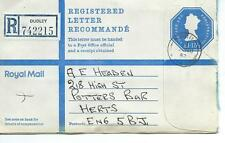 GB - REGISTERED ENVELOPE - SIZE G - £1.15.5p - DUDLEY  - 742215