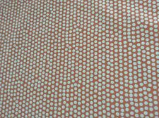 Oilcloth fabric, PVC coated, John Lewis Small Dots, Orange, Per Meter