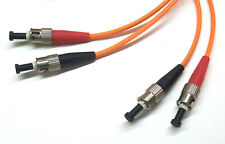 LWL Glasfaser Patchkabel 50/125 µm ST/ST 2 m Duplex Optical Fiber Cable (PC0034)