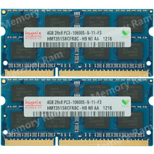Hynix 8GB KIT 2X4GB PC3-10600S DDR3-1333Mhz 204Pin SO-DIMM Laptop Memory Ram