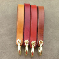 DIY Cowhide Real Leather Rope and Brass Loop Key Ring Fob Belt Keyring Keychain