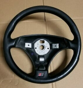 00-06 Audi TT Quattro MK1 OEM Black Leather Sport S-Line Steering Wheel