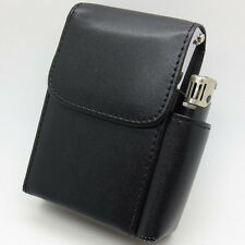 Men Women Leather Lighter Cigarette Case Hard Bag Holder Waist Pouch Fanny Pack