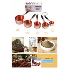 Fashion Rose Gold Stainless Steel Liquid Dry Food Measuring Cups Spoons Tool set