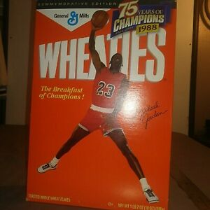 RARE 1995 MICHEAL JORDAN BOX OF WHEATIES CEREAL NEW NEVER OPENED