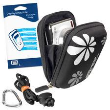 Kameratasche + Folie für Nikon Coolpix A10 A100, Canon Ixus 185, Sony W810 W830