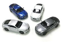 """Set of 4 New Kinsmart Diecast Cars 5"""" 2012 BENTLEY CONTINENTAL GT SPEED 4 Colors"""